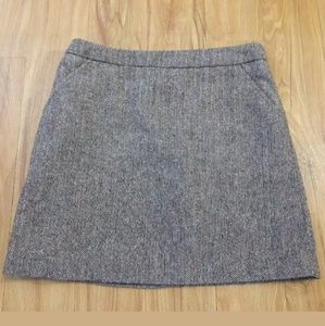 H&M Women's A-Line Skirt Size 2 Brown Wool Blend